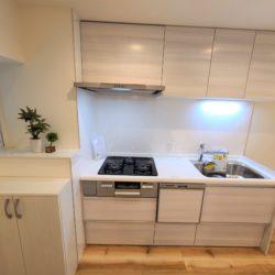 キッチンはソフトクローズや食洗器がついて使いやすい仕様になってます スライド収納付きシステムキッチンでパスタ鍋や圧力鍋の出し入れもスムーズ(キッチン)